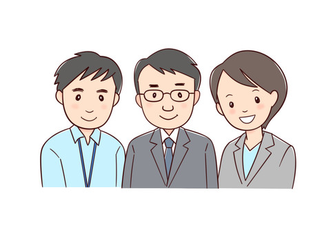 3 staff members