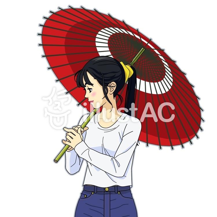 傘 さす イラスト
