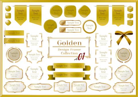 Gold title design frame 01