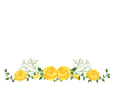 Father's Day rose garland decoration card Yellow 02