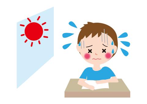 Children's classroom heat stroke boy