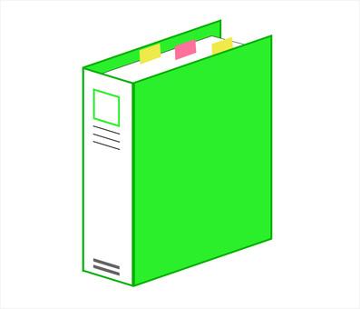 Binder file green