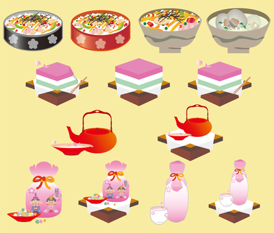 Hinamatsuri's food set