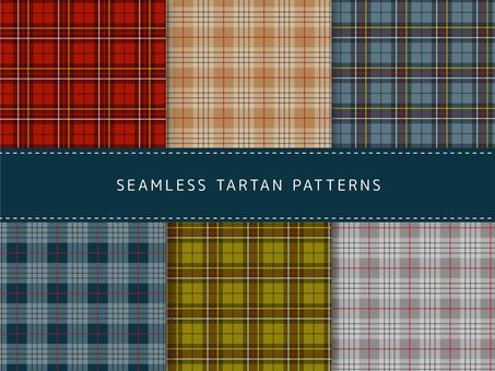 Pattern set of tartan check