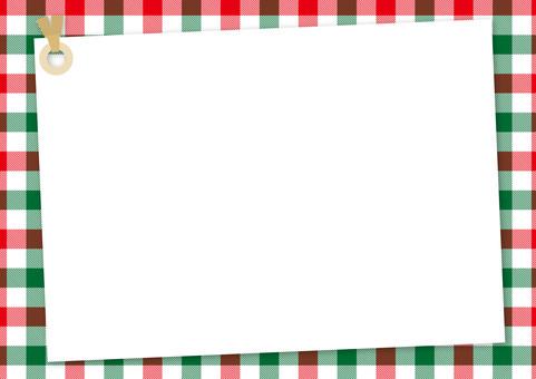 備忘錄標籤<紅色×綠色×白色方格布>