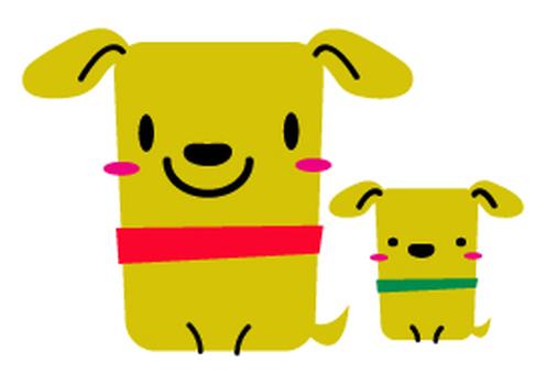 狗(媽媽和小孩)