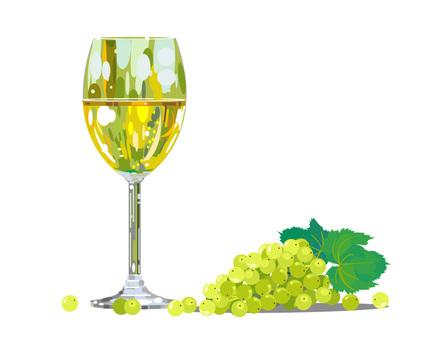 Grape and white wine