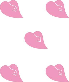 粉紅色的鴿子五