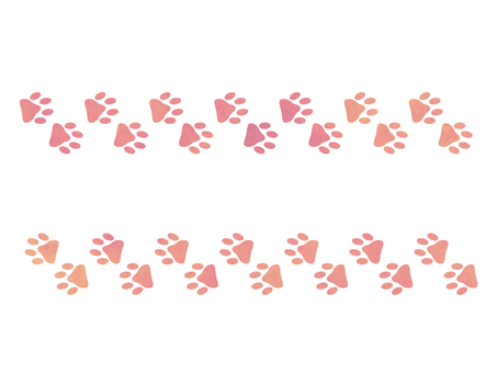 Yume cute footprint line pink