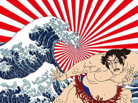 神奈川沖浪裏と男性 その9