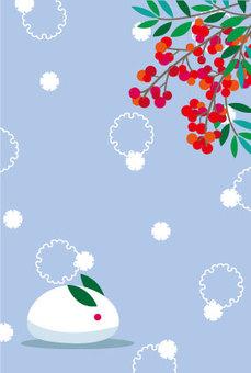 明信片,雪景