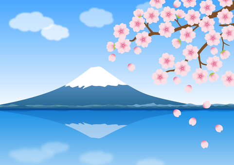 Sakura and Mt. Fuji