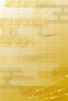 Background 203_ Gold color Japanese style card