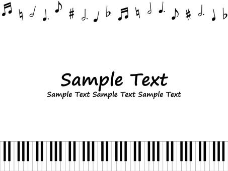 ピアノモチーフの背景