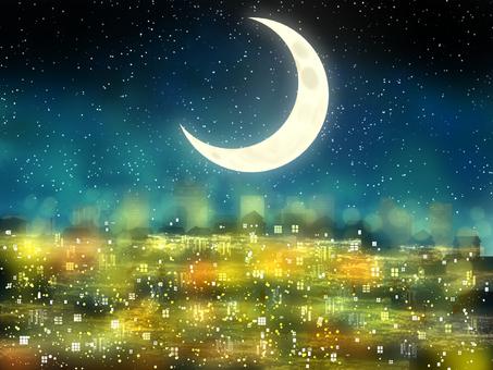 Night light crescent moon