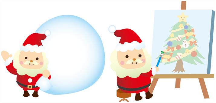 圣诞老人框架包和帆布