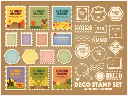 Decoration Stamp (Autumn) SET