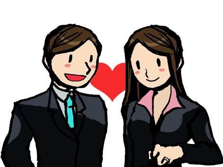 Suit men and women love