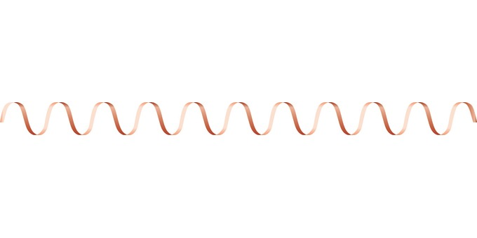 Ribbon wave red