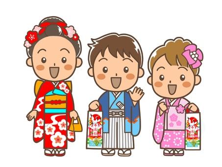 Shichigosan 3 children