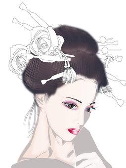 Japanese hair lady 15