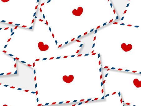 많은 항공 우편과 사랑