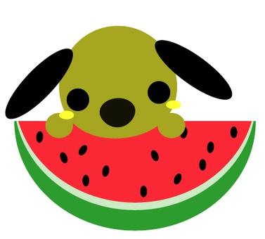 Watermelon dog