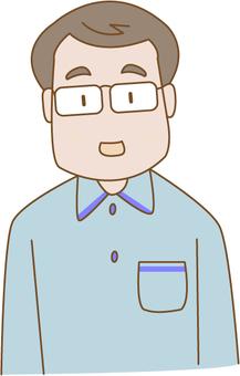Middle aged men of glasses