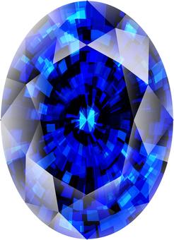 ai Sapphire of oval cut