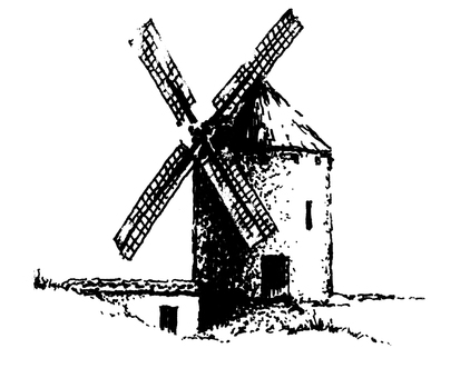 Spanish windmill cabin