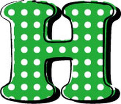 Dotted alphabet H