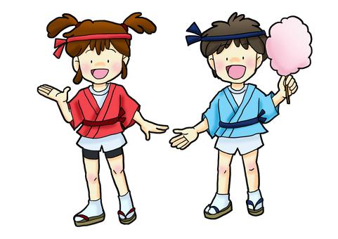 Festival kids two people ①