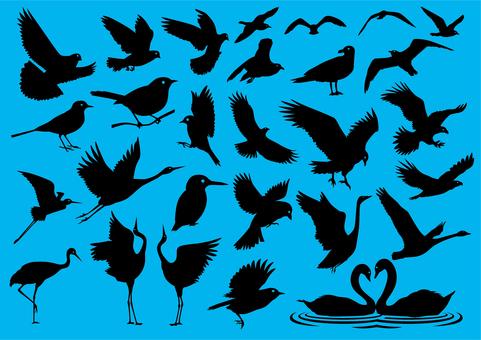 鳥のアイコンセット