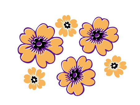 Yellow flower illustration