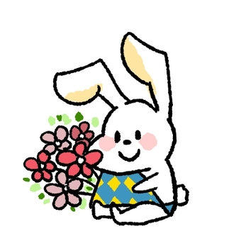 Usagi and bouquet