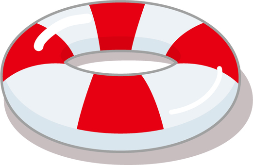 There is a float ring and there is a red line