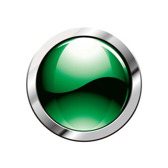 Three-dimensional button metal icon