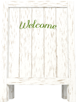 Wood sign 2 _ welcome
