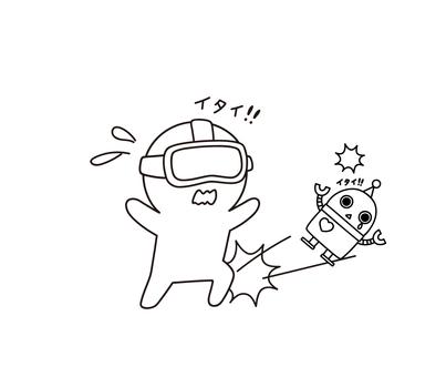 VR 사고 걷어차 부상하는 ゆるぼ ~