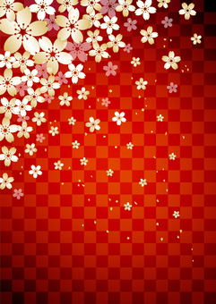 Cherry tree _ lattice _ red _ longitudinal background
