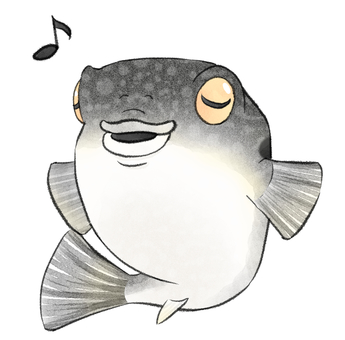 Happy blowfish