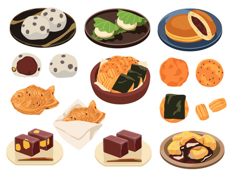 Cooking _ Japanese confectionery _ Set 2 _ no line