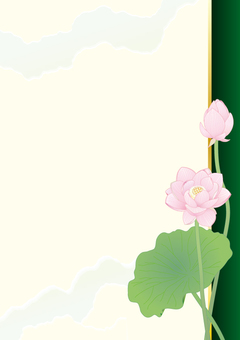 Lotus flower _ Paper vertical plate _ green