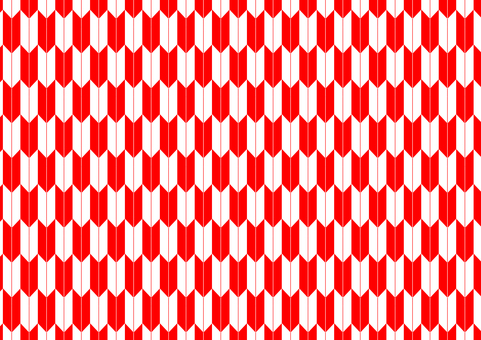 Arrow pattern (red & white)