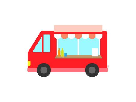 移動販売車シルエット イラストの無料ダウンロードサイトシルエットac