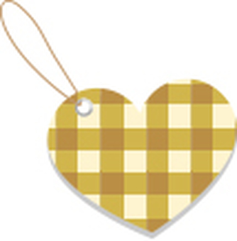 Check heart tag brown