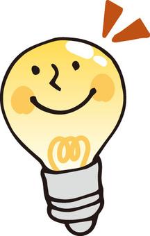 Light bulb (smiling)