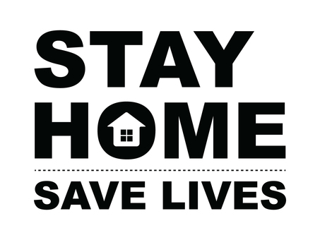 Stay home STAY HOME (black)