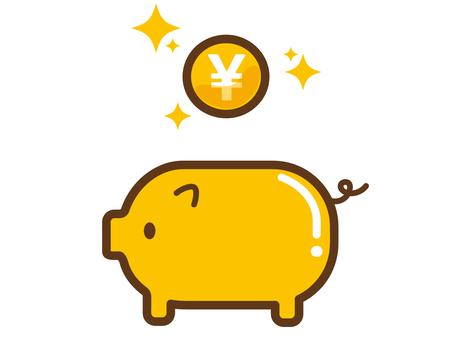Gold pig's savings