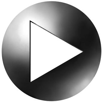 円形アイコンtype2 三角矢印 黒
